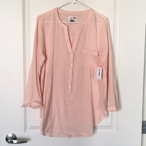 Old Navy Pink Gauze Tunic